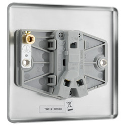 BG Brushed Steel 10A Switch