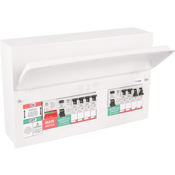 MK Metal 17th Edition Amendment 3 High Integrity Dual RCD + 8 MCBs Consumer Unit