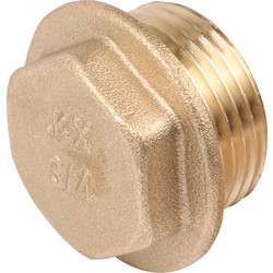 "Brass Flanged Plug 1/4"" - 71840 - from Toolstation"
