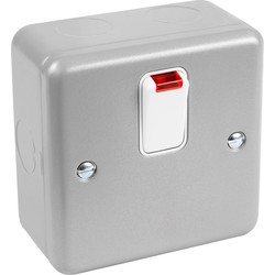 MK MK Metal Clad 20A DP Switch With Neon - 71842 - from Toolstation