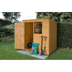 Forest Garden Shiplap Dip Treated Pent Shed 6 x 4ft