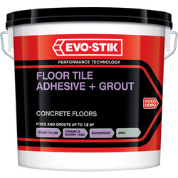 Evo-Stik Floor Tile Adhesive & Grout Grey 5L