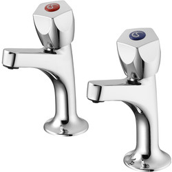 Armitage Shanks Armitage Shanks Sandringham 21 High Neck Sink Pillar Taps  - 72042 - from Toolstation
