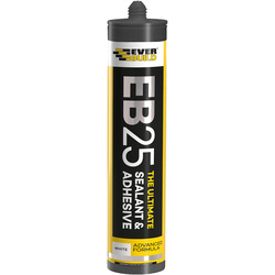 Everbuild EB25 The Ultimate Sealant & Adhesive 300ml White - 72066 - from Toolstation
