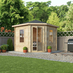 Mercia Mercia Corner Cabin - 28mm 3m x 3m Single Glazed - 72158 - from Toolstation