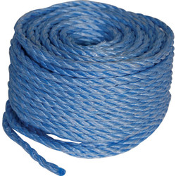 Polypropylene Rope Blue 6mm x 220m - 72179 - from Toolstation