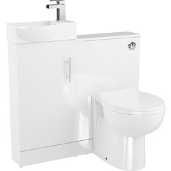 Cassellie Single Door Semi-Recessed Bathroom Unit Gloss White - 72303 - from Toolstation