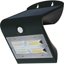 Luceco Luceco SOLAR Guardian 3.2W PIR Wall Light IP44 Black 400lm - 72310 - from Toolstation