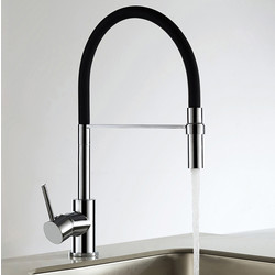 Unbranded Montacute Pull Out Mono Mixer Kitchen Tap Black - 72326 - from Toolstation