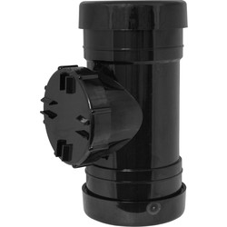 Aquaflow Access Pipe 110mm Black - 72361 - from Toolstation