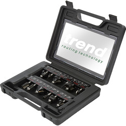 "Trend Trend 1/4"" Router Cutter Set 12 Piece - 72370 - from Toolstation"