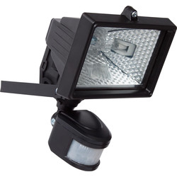 Halogen PIR Floodlight 120W Black