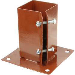 Bolt Down Post Shoe 100 x 100mm