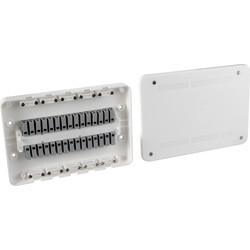 Surewire 4 Way Pre-wired Light & Switch Junction Box SW4L-MF