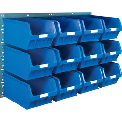 Barton Barton Steel Louvre Panel with Blue Bins 641 x 457mm with TC5 Blue Bins - 72521 - from Toolstation