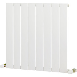 Ximax Ximax Oxford Single Designer Radiator 600 x 595mm 1410Btu White - 72616 - from Toolstation