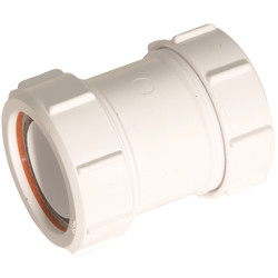 "McAlpine McAlpine Straight Connector 1 1/2"" - 72627 - from Toolstation"