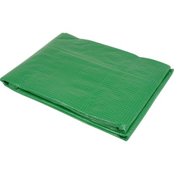 Green Tarpaulin 3 x 4m - 72719 - from Toolstation
