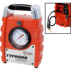 Streetwize Typhoon Air Compressor 300 x 195 x 100mm - 72887 - from Toolstation
