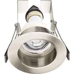 Integral LED Integral LED Recessed Evofire IP65 Fire Rated Downlight Satin Nickel with Insulation Guard - 72896 - from Toolstation