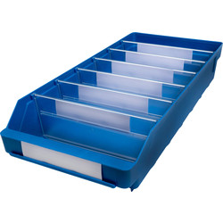 Barton Blue Shelf Bin 500 x 240 x 95mm - 72959 - from Toolstation