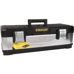 "Stanley Stanley Galvanized Metal Plastic Toolbox 660mm (26"") - 73091 - from Toolstation"