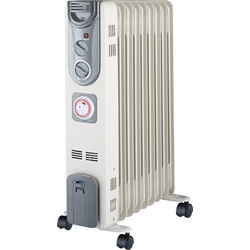 Unbranded 2kW Oil Radiator with 24hr Timer  - 73102 - from Toolstation