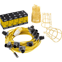 Defender Defender 110V 22m LED Festoon Lighting Set ES - 73176 - from Toolstation