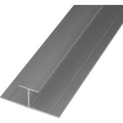 Mermaid Mermaid Laminate Shower Wall Panel Trims Anodised Aluminium H Joint - 73282 - from Toolstation