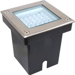 LED 2.9W Square Ground Light IP67 12V AC White - 73395 - from Toolstation