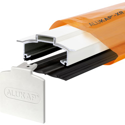 Alukap Alukap-XR Concealed Fix Hip Bar with Gasket White 3000mm - 73430 - from Toolstation