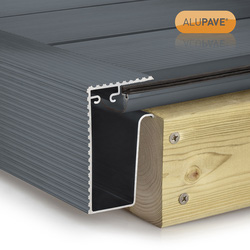 Alupave Alupave Fireproof Flat Roof & Decking Side Gutter Grey 2m - 73558 - from Toolstation