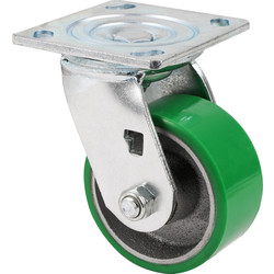 Unbranded Green Mould-On Poly Steel Hub Swivel 100mm - 73577 - from Toolstation
