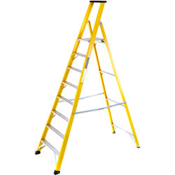 TB Davies TB Davies Fibreglass Platform Step Ladder 8 Tread SWH 3.5m - 73606 - from Toolstation