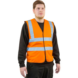 Hi Vis Waistcoat Orange Large - 73631 - from Toolstation