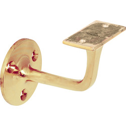 Handrail Bracket Polished Brass - 73641 - from Toolstation