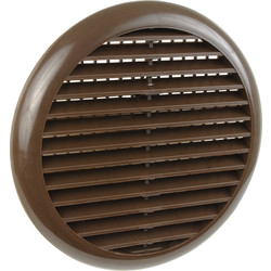 Round Louvre Vent Brown - 73659 - from Toolstation