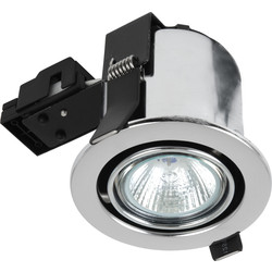 Sylvania Sylvania Fire Rated Adjustable GU10 Downlight Brushed Steel - 73671 - from Toolstation