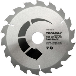 Toolpak Toolpak TCT Circular Saw Blade 190 x 30 x 18T - 73894 - from Toolstation