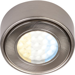 Ellen 240V LED CCT Round Under Cupboard Light 1 x 1.5W 140lm light - 73940 - from Toolstation