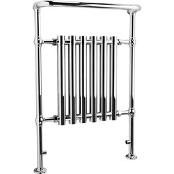 Traditional Tubular Chrome Towel Radiator 6 Section