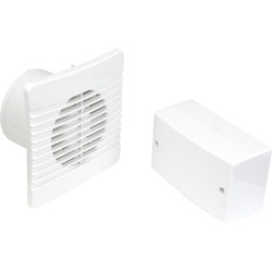 Airvent Airvent 100mm SELV 12V Low Profile Extractor Fan Humidistat & Pullcord - 74009 - from Toolstation