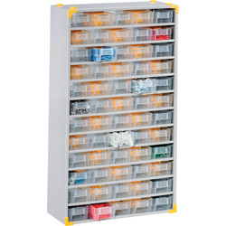Barton Steel Small Parts Compact Cabinet 565 x 300 x 140mm - 90 Pieces - 74064 - from Toolstation