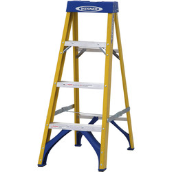 Youngman Youngman Fibreglass Swingback Step Ladder 4 Tread SWH 2.04m - 74108 - from Toolstation