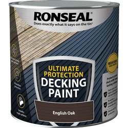 Ronseal Ronseal Ultimate Protection Decking Paint 2.5L English Oak - 74235 - from Toolstation