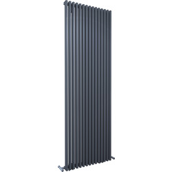 Kudox Kudox Xylo Anthracite Designer Radiator 1800 x 580mm 4651Btu - 74246 - from Toolstation