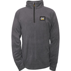 CAT Caterpillar Half Zip Micro Fleece Large Graphite - 74250 - from Toolstation
