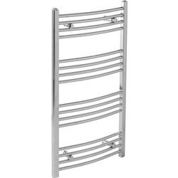 Qual-Rad Chrome Curved Towel Radiator 1200 x 550mm 1392Btu - 74407 - from Toolstation