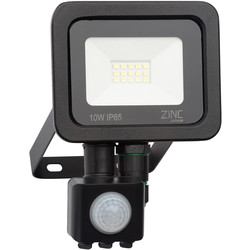 Zinc Zinc Slimline LED PIR Floodlight IP65 10w 800lm - 74413 - from Toolstation