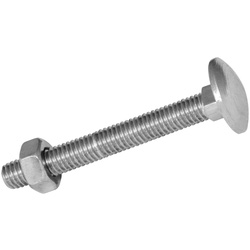 Coach Bolt & Nut M6 x 100 - 74444 - from Toolstation